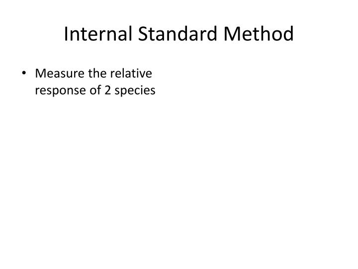 Internal Standard Method