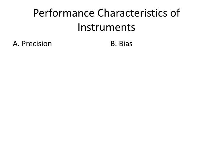 Performance Characteristics of Instruments