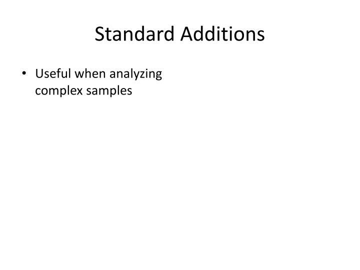 Standard Additions