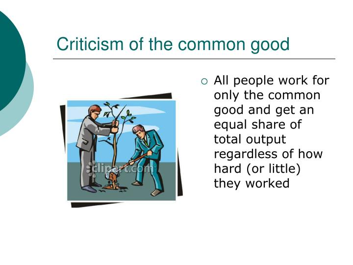 Criticism of the common good