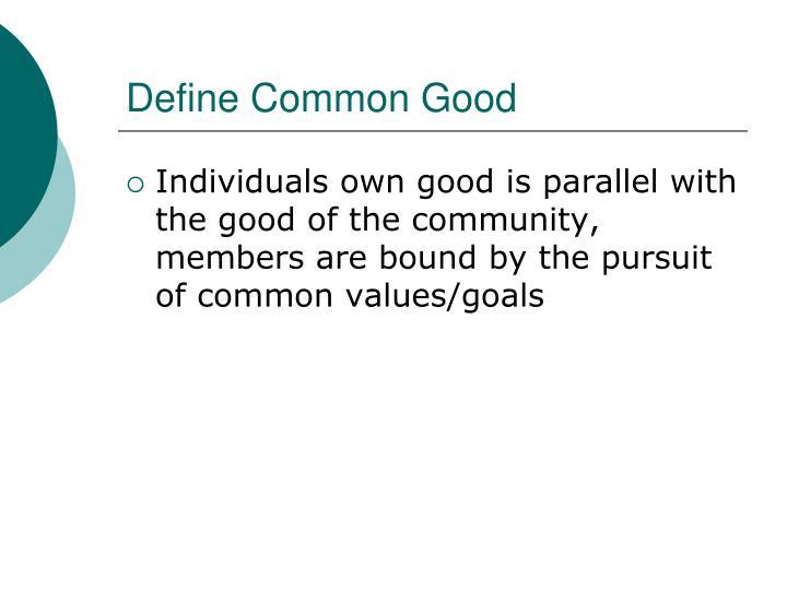 Define common good