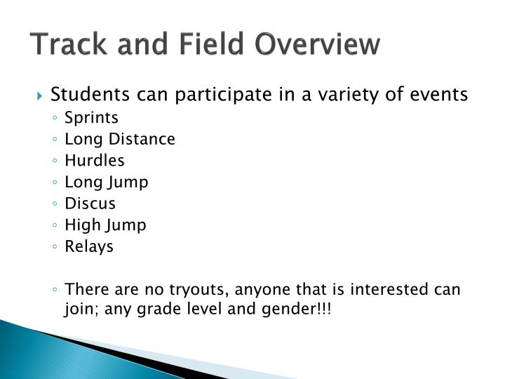 Track and field overview