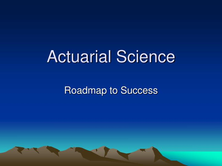 acturial science Books shelved as actuarial-science: actuarial mathematics by newton l bowers, introduction to ratemaking & loss reserving for property & casualty insura.