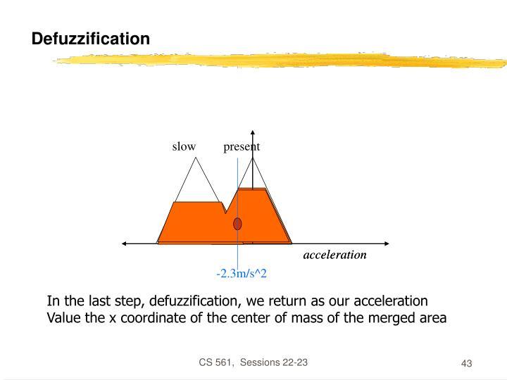 Defuzzification