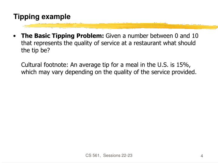 Tipping example