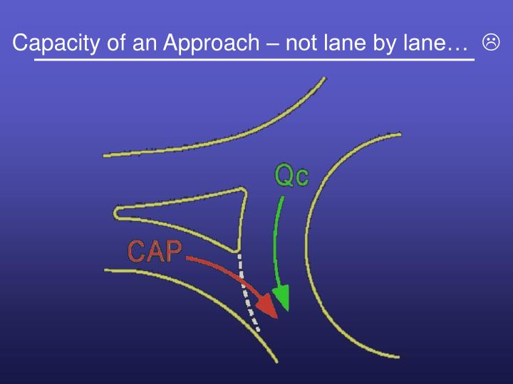 Capacity of an Approach – not lane by lane…
