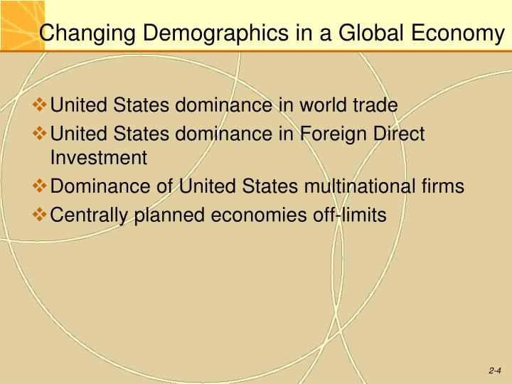 Changing Demographics in a Global Economy