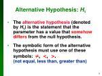 alternative hypothesis h 1