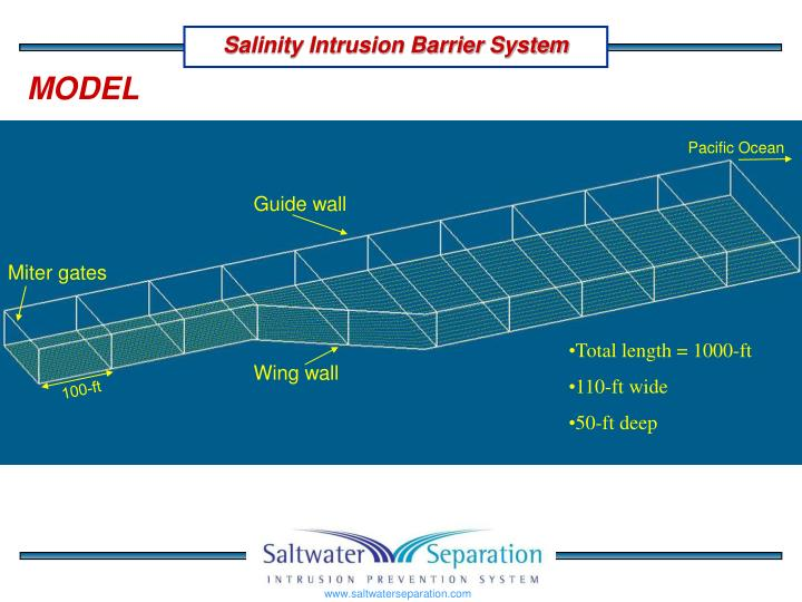 Salinity Intrusion Barrier System