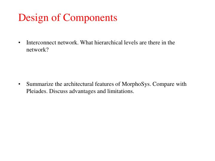 Design of Components