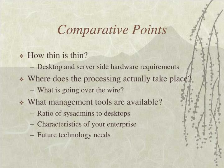Comparative Points