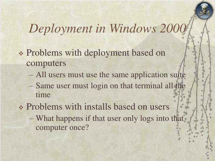 Deployment in Windows 2000