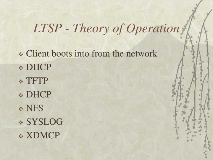 LTSP - Theory of Operation