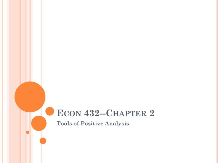 econ 432 chapter 2 n.