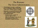 the romans the great administrators1