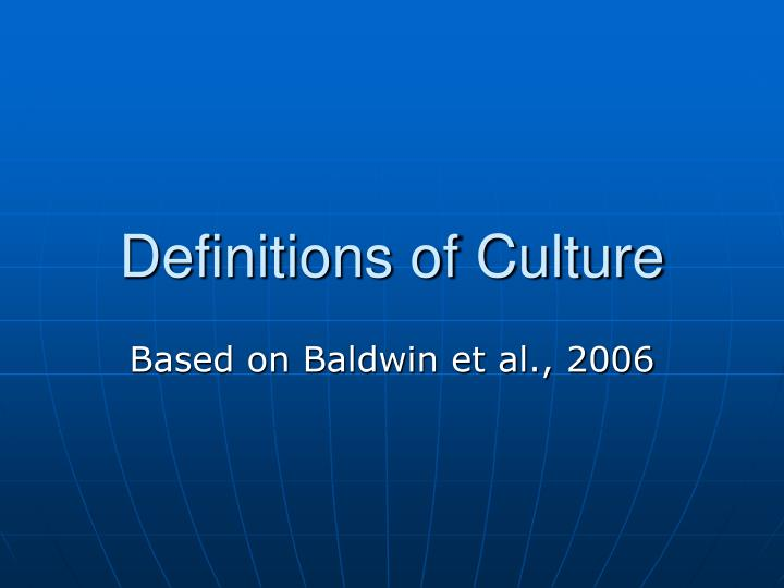 definitions of culture n.