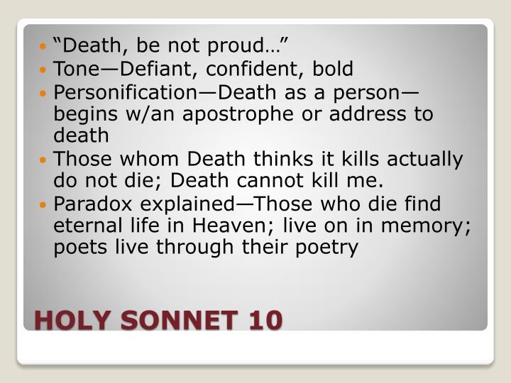 holy sonnet 10