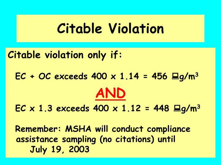Citable Violation