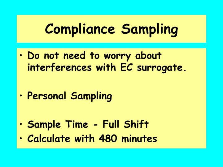 Compliance sampling