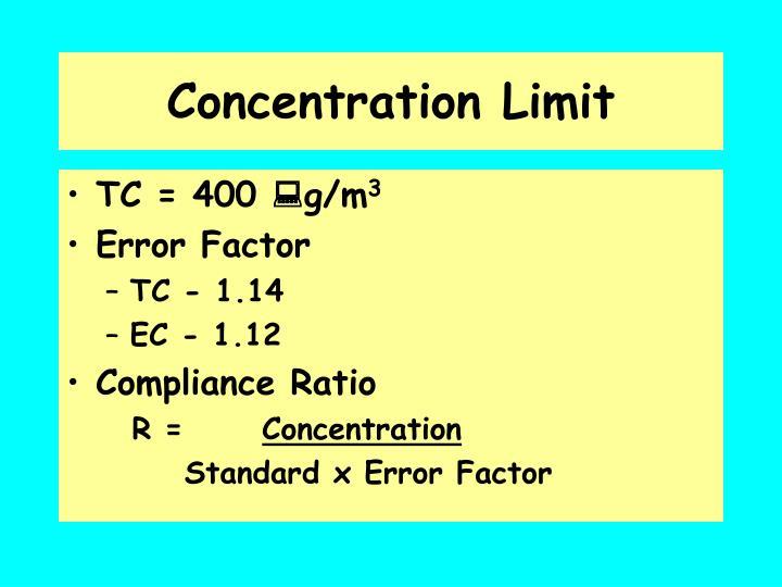 Concentration Limit