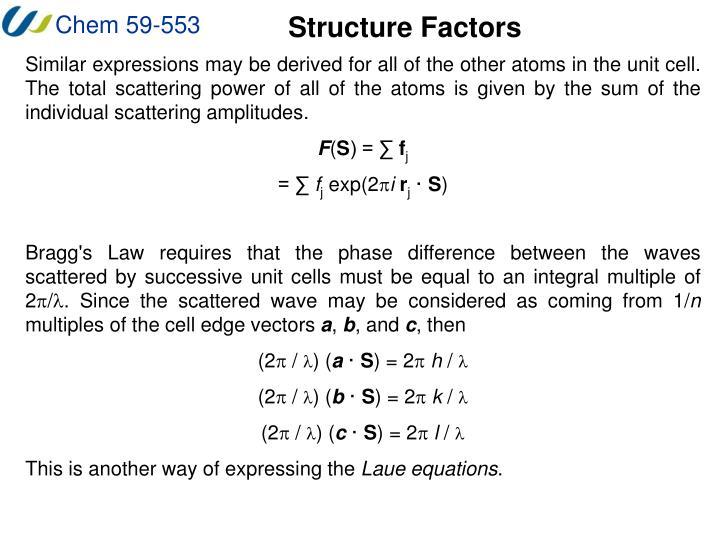 Structure Factors