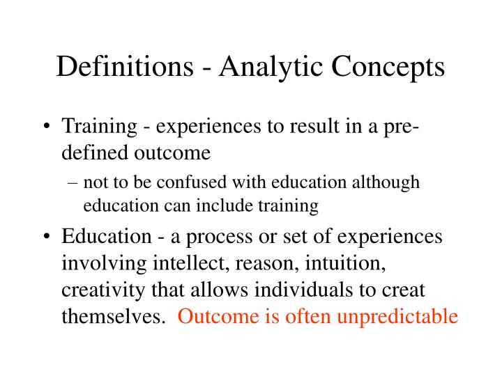 Definitions analytic concepts1