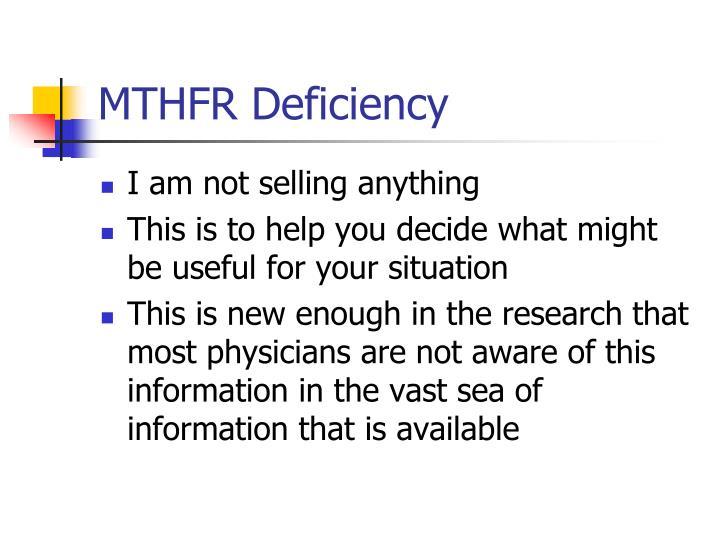 Mthfr deficiency