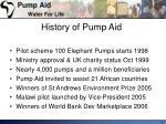 history of pump aid