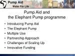 pump aid and the elephant pump programme1