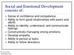 social and emotional development consists of
