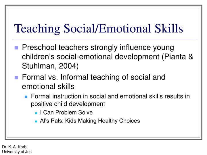 teaching social emotional skills to preschoolers ppt early childhood education social and emotional 321