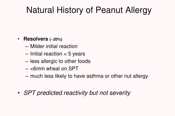 Natural History of Peanut Allergy
