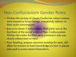 neo confucianism gender roles