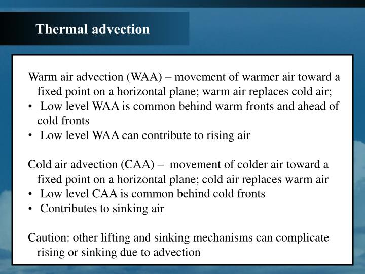 Thermal advection