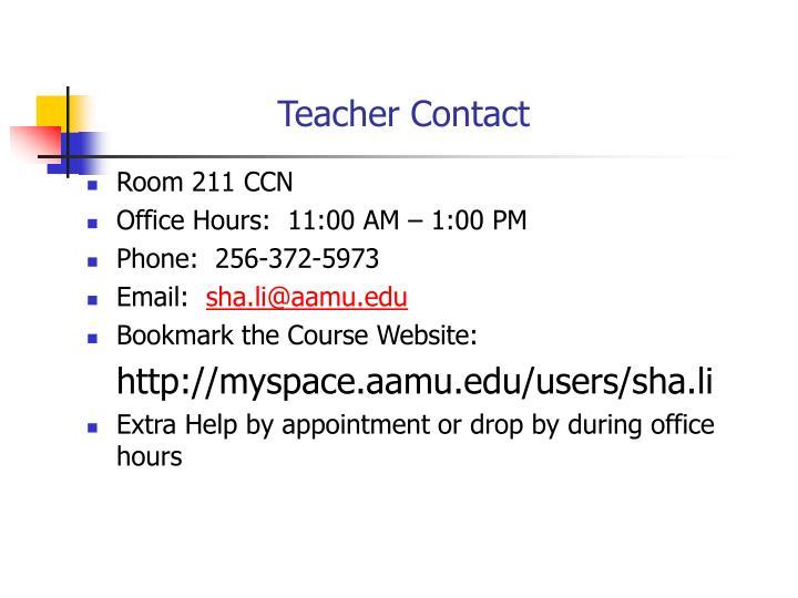 Teacher Contact