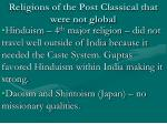 religions of the post classical that were not global