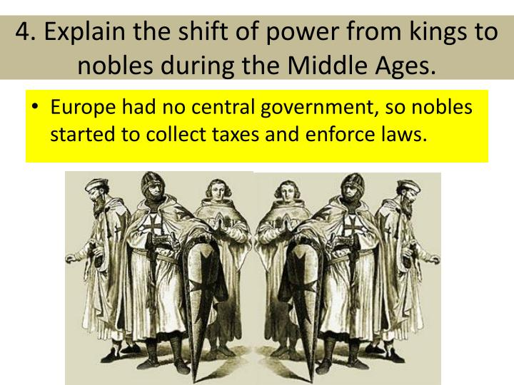 the power and importance of the pope the kings and nobles during the middle ages During the middle ages there were many different types of people there were people who were kings, knights physical power resides with the king and nobles through their knights examining specific works of the middle ages enables us to describe our views of the changes that occur and.