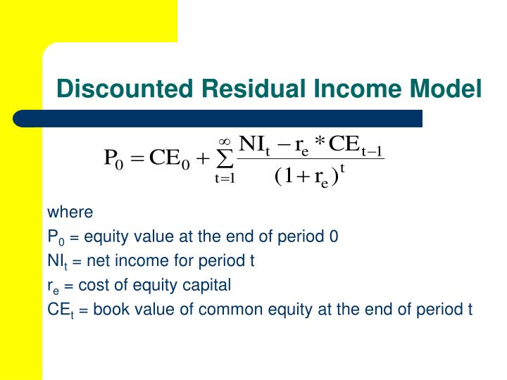 Discounted Residual Income Model