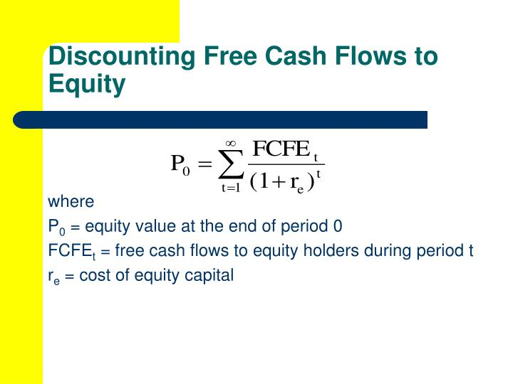 Discounting Free Cash Flows to Equity