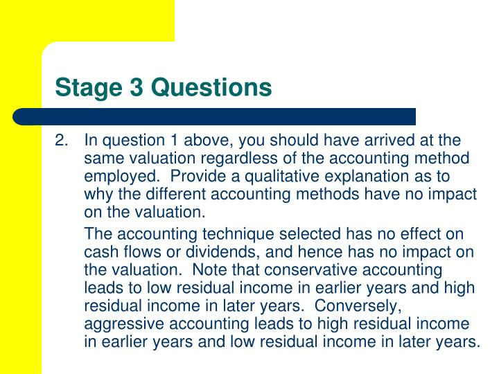 Stage 3 Questions