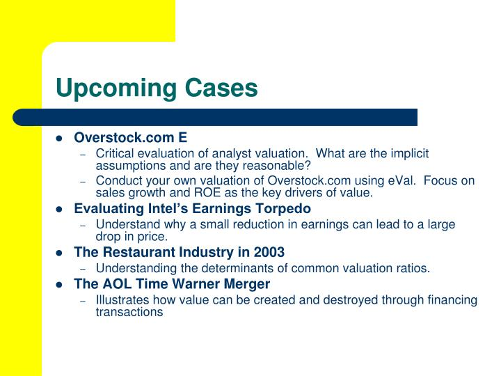 Upcoming Cases