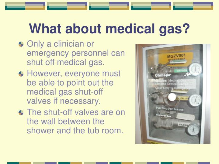What about medical gas?