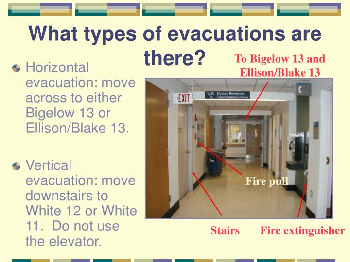 What types of evacuations are there?