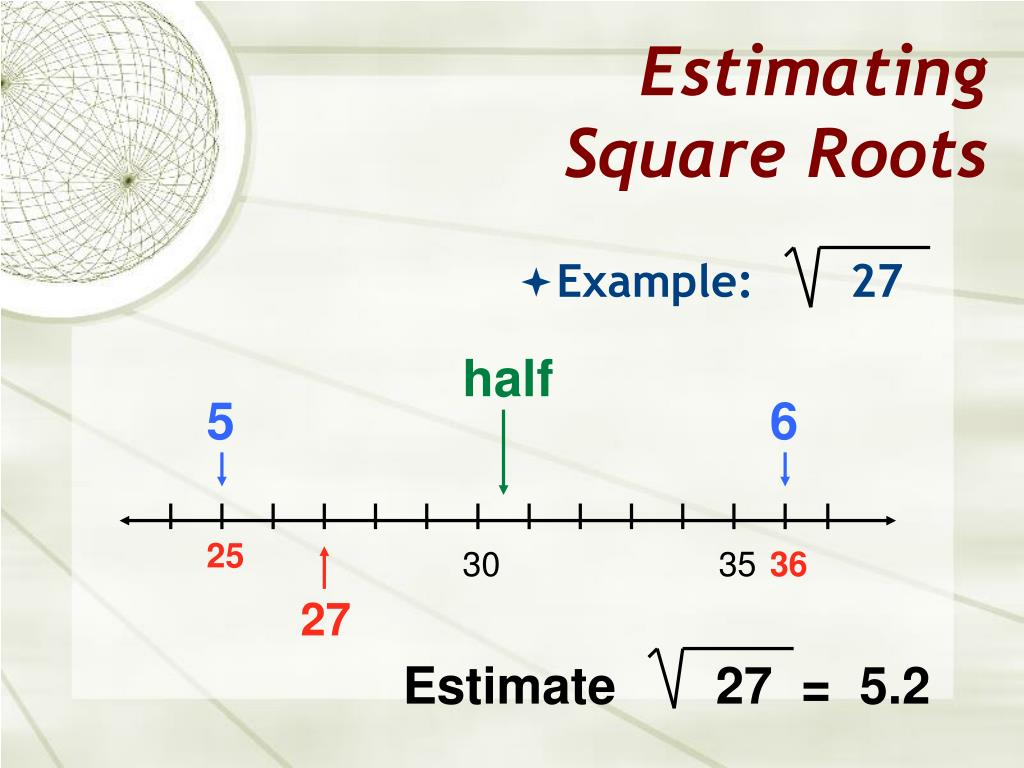 25 30 Square Root 123: Squares & Square Roots PowerPoint Presentation
