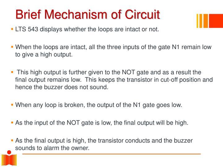 Brief Mechanism of Circuit