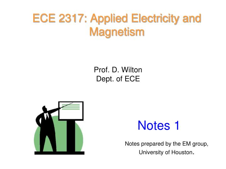 ece 2317 applied electricity and magnetism n.