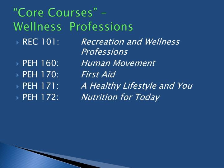 """Core Courses"" –"