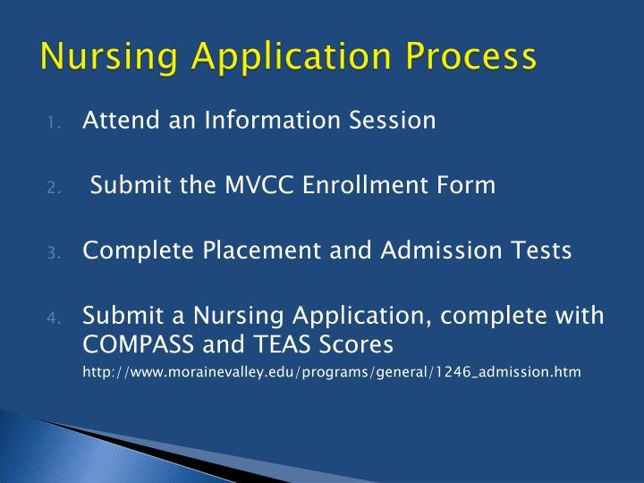 Nursing Application Process