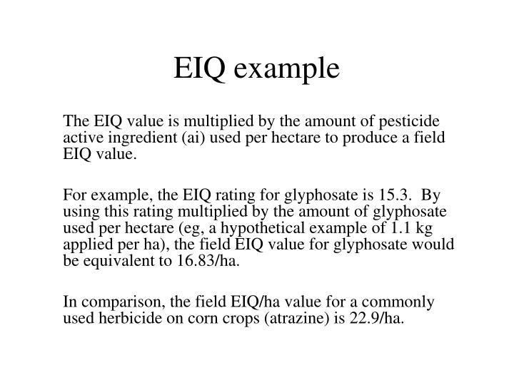 EIQ example
