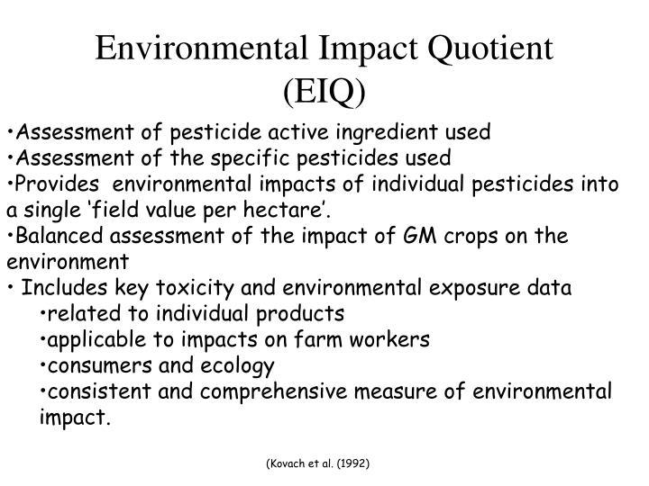 Environmental Impact Quotient